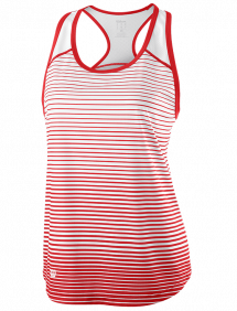 Топ Wilson Team Striped Tank W (Red/White)