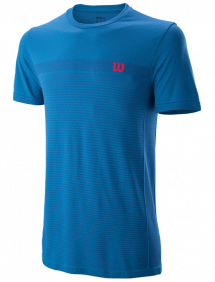 Футболка Wilson Competition Seamless Crew M (Brillian Blue/Imperial Blue)