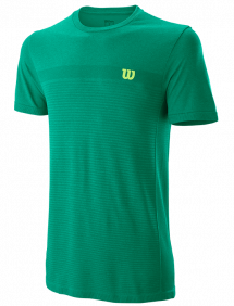 Футболка Wilson Competition Seamless Crew M (Deep Green/Lagoon Green)