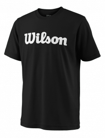 Футболка Wilson Team Script Tech Y (Black/White)