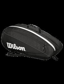 Сумка Wilson Fed Team 6R (Черный/Белый)