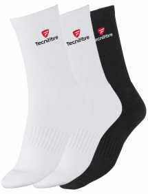 Носки Tecnifibre Men Socks 3pair (Белый + Белый + Черный)