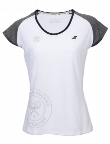 Футболка Babolat Core Wimbledon W (Белый/Серый 225)