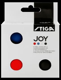 Мячи для настольного тенниса STIGA Joy ABS x4 (Разноцветные)