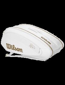 Сумка Wilson Federer DNA 12R (Белый/Золотой)