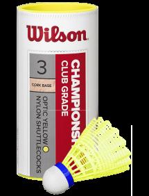 Воланы Wilson Championship (Желтый) 3pcs