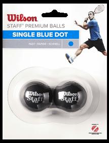 Мячи для сквоша Wilson Staff 1x-Blue x2