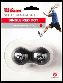 Мячи для сквоша Wilson Staff 1x-Red x2
