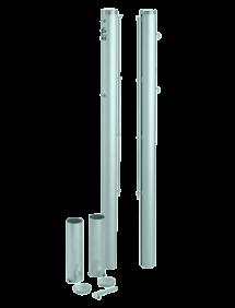Столбы для сетки  круглые (Зеленый)
