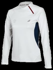 Футболка утепленная Babolat Zip Perf Wimbledon W (Белый)