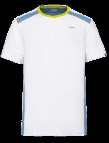 Футболка Head Uni M (Белый/Голубой)