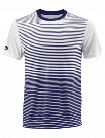 Футболка Wilson Team Striped Crew M (Blue Depths/White)