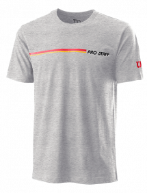 Футболка Wilson Pro Staff Tech Tee M (Heateher Grey)