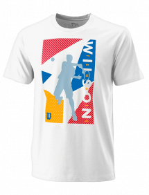 Футболка Wilson Geo Play Tech Tee M (White)