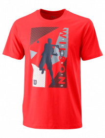 Футболка Wilson Geo Play Tech Tee M (Infrared)