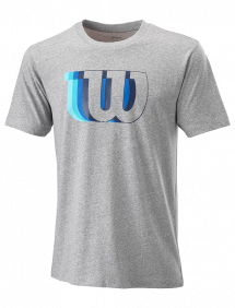 Футболка Wilson Blur-W Tech Tee M (Heather Grey)