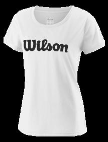 Футболка Wilson UWII Script Tech Tee W (White/Black)