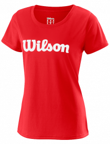 Футболка Wilson UWII Script Tech Tee W (Red/White)