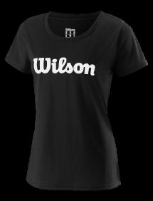 Футболка Wilson UWII Script Tech Tee W (Black/White)