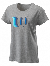 Футболка Wilson Blur-W Tech Tee W (Heather Grey)
