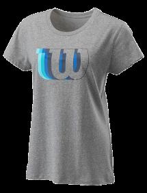 Футболка Wilson Blur-W Tech Tee W (Heather Grey)