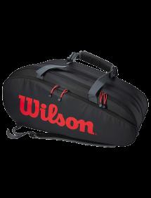 Сумка Wilson Tour 3 Comp Clash 12R (Черный/Красный)