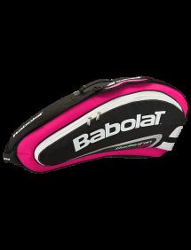 Сумка Babolat Team Line Badminton x4 (Розовый)