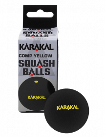Мячи для сквоша Karakal Yellow Dot Squash Ball 2 (2x1)