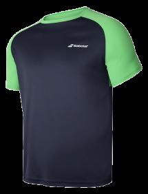 Футболка Babolat Play Crew Neck B (Зеленый/Серый 4050)