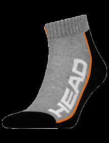 Носки Head Stripe Quater 2pair Unisex (Серый/Черный)