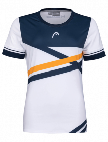 Футболка Head Performance T-Shirt W (Белый/Оранжевый)