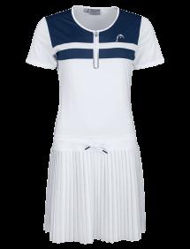 Платье Head Performance Dress  W (Белый/Синий)