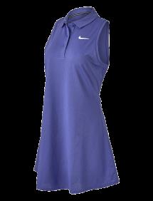 Платье Nike Court Victory Polo Dress W (Синий)