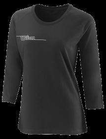 Футболка Wilson Team II 3/4 Sleeve Tech Tee W (Black)