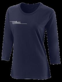 Футболка Wilson Team II 3/4 Sleeve Tech Tee W (Navy)