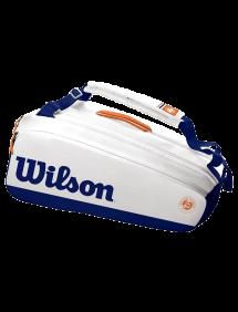 Сумка Wilson Roland Garros Premium 9R (Белый/Синий)
