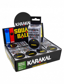 Мячи для сквоша Karakal Yellow Dot Squash Balls 12 (6x2)