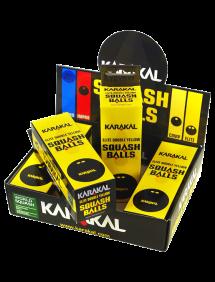 Мячи для сквоша Karakal 2x-Yellow Dot Squash Ball 12 (4x2)