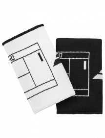 Напульсник Babolat Reversible Jumbo двусторонний (Белый/Черный)