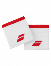 Напульсник Babolat Logo (Белый/Красный)