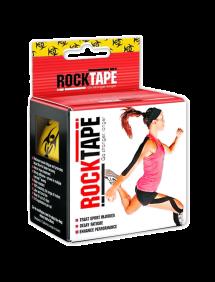 Кинезиотейп RockTape Design, 5см х 5м (Желтый/Черный)