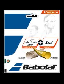 Струны для тенниса Babolat Hybrid Pro Hurricane Tour + Xcel 12m