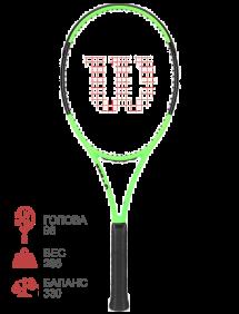 Ракетка для тенниса Wilson Blade 98L 16x19 (Lime Green) LE