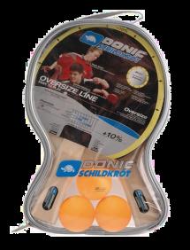 Набор для настольного тенниса Donic-Schildkrot Oversize (2 ракетки + 3 мяча)