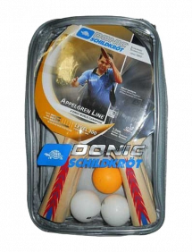 Набор для настольного тенниса Donic-Schildkrot Appelgren 300 (4 ракетки + 3 мяча + сетка)