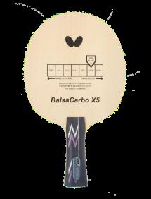 Ракетка для настольного тенниса сборная Butterfly Balsa carbo X5, накладки Sriver FX