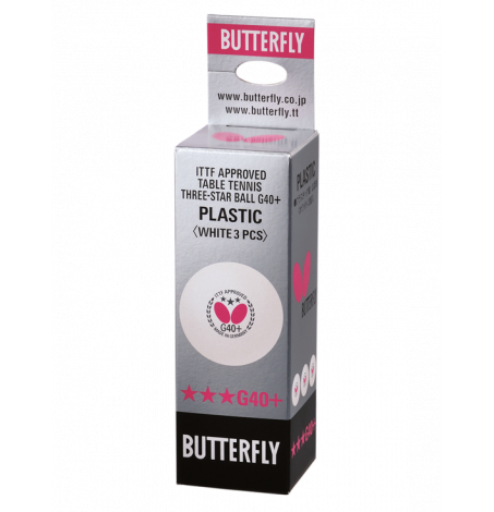 Мячи для настольного тенниса Butterfly G40+ x3