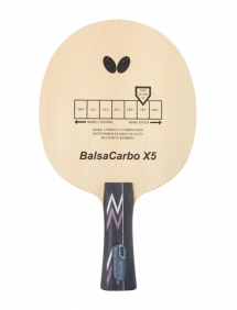Ракетка для настольного тенниса сборная Butterfly Balsa carbo X5, накладки Tenergy 05