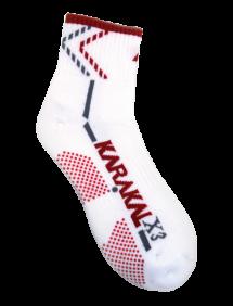 Носки Karakal X3 Ankle (Белый/Красный)