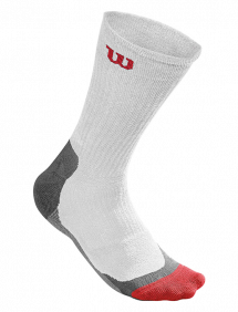 Носки Wilson High-End Crew мужские (White/Red/Grey)